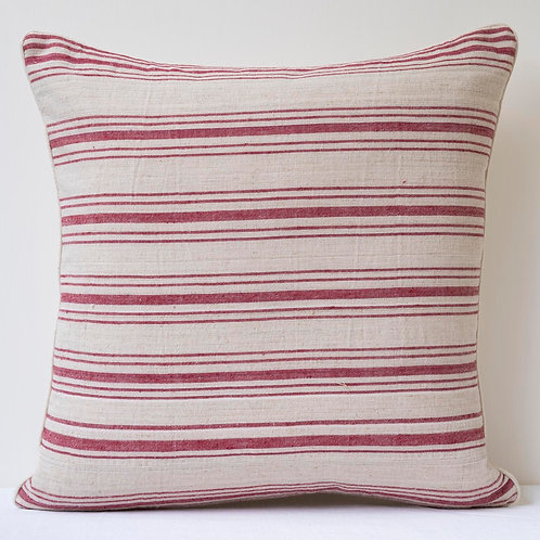 "20""/50cm striped cushion with antique hand woven bag"