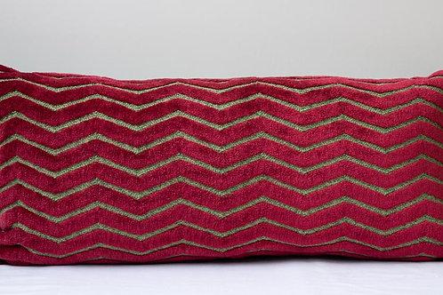 Rectangular bolster sumptuous Italian velvet /Pierre Frey cushion