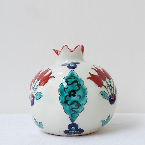 Large hand painted ceramic pomegranate