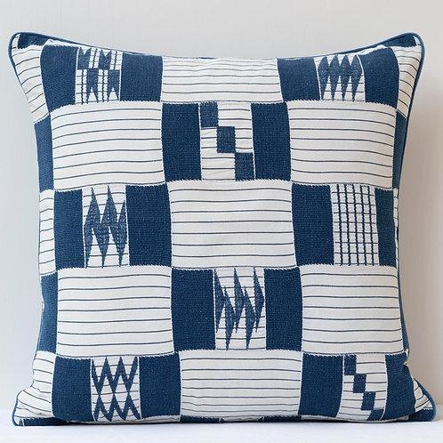 "20""/ 46cm square patchwork hand woven cloth/ antique back cushion A"