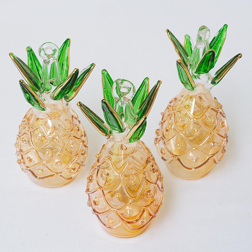 Set of 3 pineapple Christmas baubles