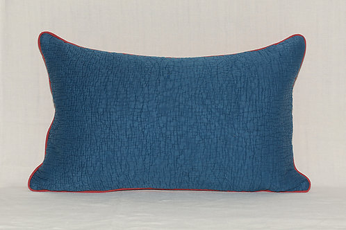 Rectangular antique textiles cushion