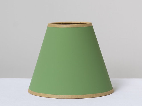 "5"" (13cm) base green/gold card small shade"