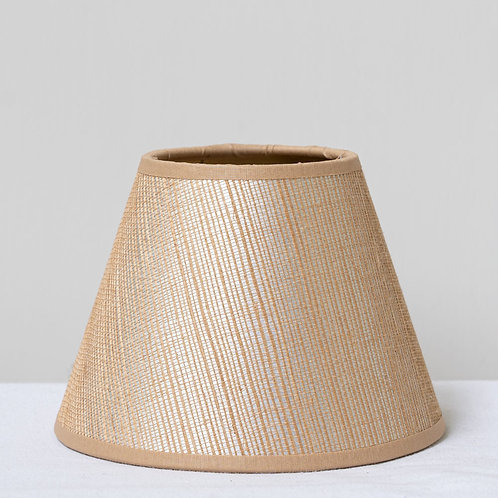 """5 1/2""""/ 14cm candle clip raffia lampshade with slight sheen"""