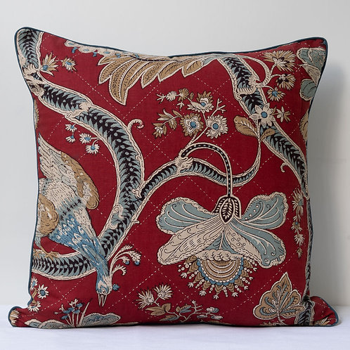"""20""""/51cm cushion with antique quilted French panel 3"""