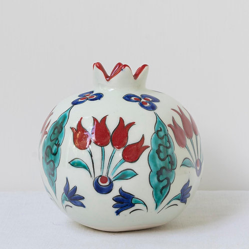 Large hand painted ceramic pomegranate 19