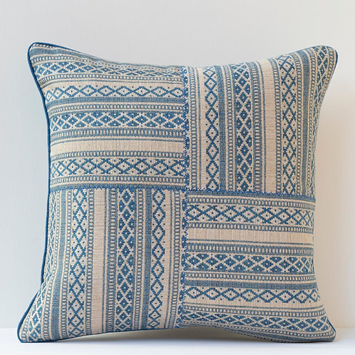 """45cm/ 18"""" Susan Deliss patchworked Zoe fabric cushion"""