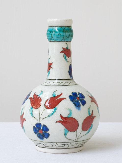 (3) Decorative Iznik inspired ceramic vase