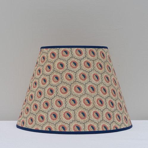 """14"""" (36cm) base Robert Kime """"Sunburst"""" in Terracotta wallpaper lampshade"""