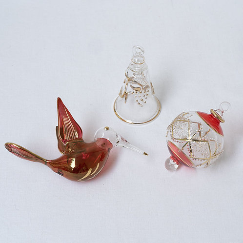 Mixed set no. 13A of 3 Christmas baubles