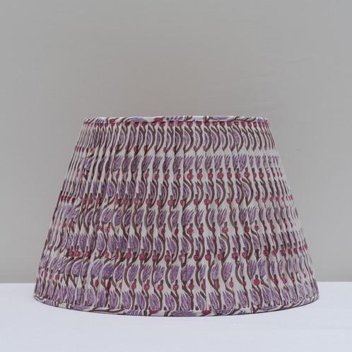 Mauve brown tulip vine block print lampshade aloadofball Image collections