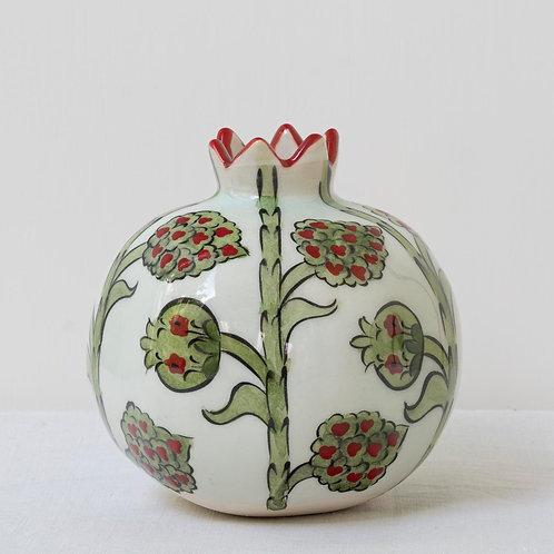 Large hand painted ceramic pomegranate 2