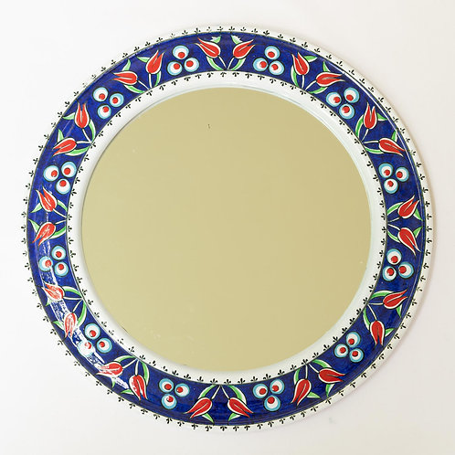 Pretty hand painted ceramic mirror (3)