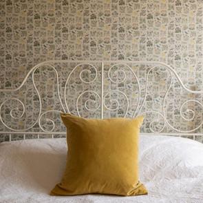 Yellow guest bedroom