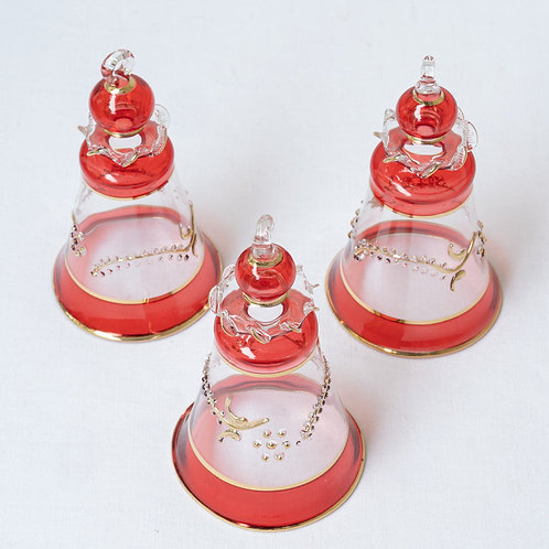 Set of 3 bell Christmas baubles