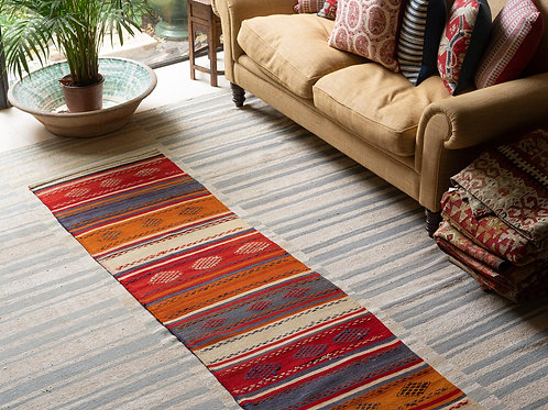 Spectacular hand woven 50 year old Anatolian runner (no. 15)