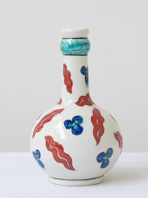 (6) Decorative Iznik inspired ceramic vase