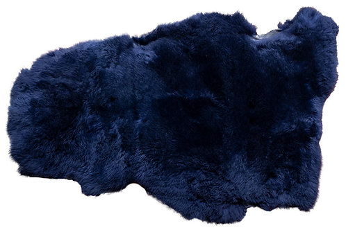 Luxurious midnight blue sheepskin