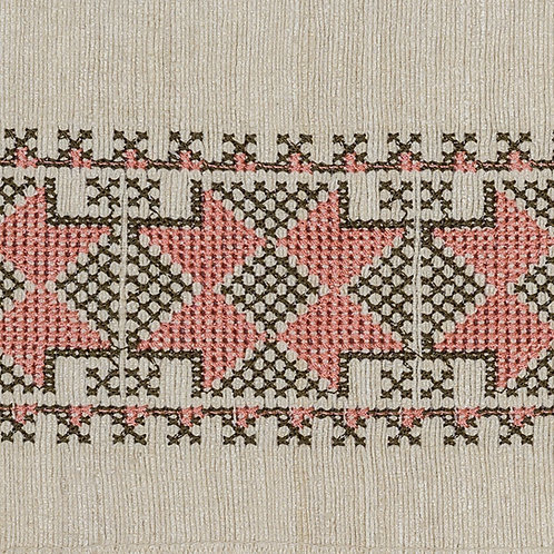 Antalya braid in peach/olive (price is per metre)