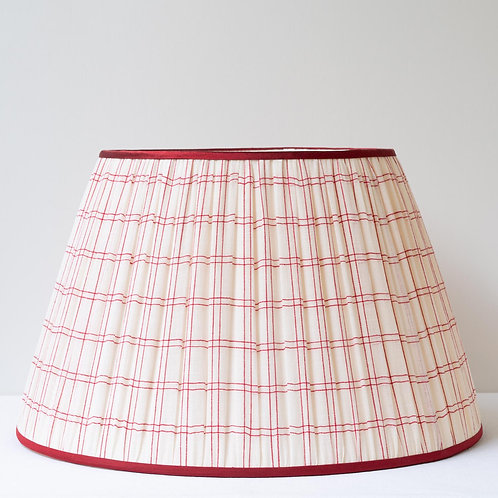 "16""/40cm base antique French checked organdy lampshade"