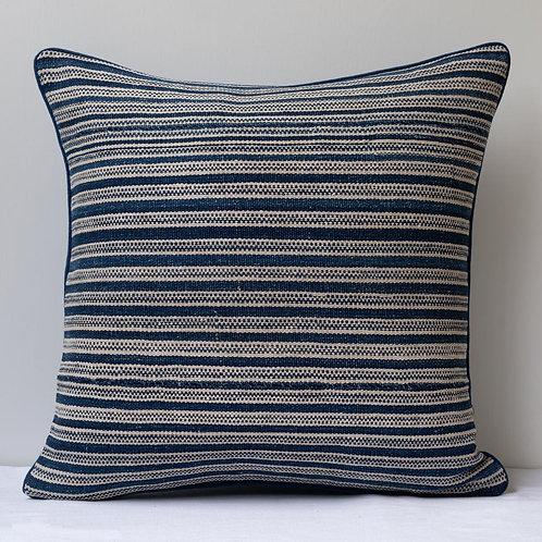 "20""/51cm smart square antique Persian flatweave/ indigo linen cushion"