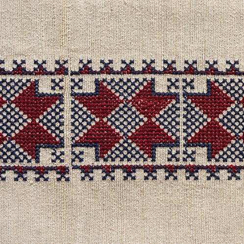 Antalya braid in red/indigo (price is per metre)