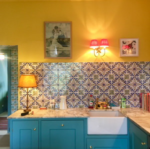 Client's photo of the kitchen in use
