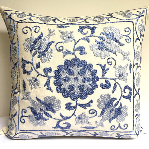 2C Hand embroidered cushion