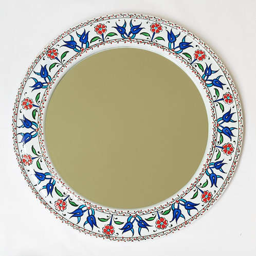 Pretty hand painted ceramic mirror (1)