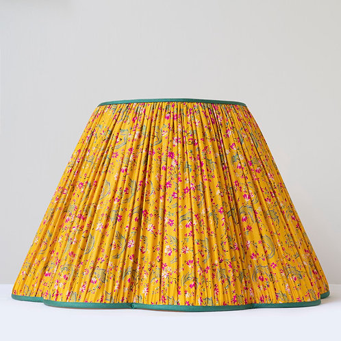 """18""""/45cm base hand archive print silk fluted lampshade"""