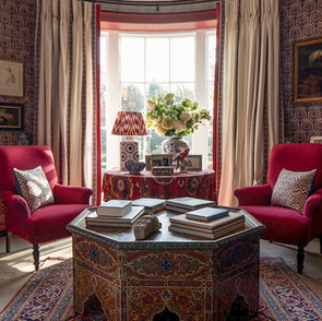 Bohemian TV sitting room