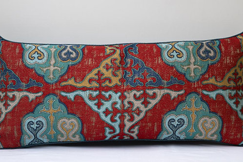 Rectangular Kirghiz weave/ antique hemp cushion