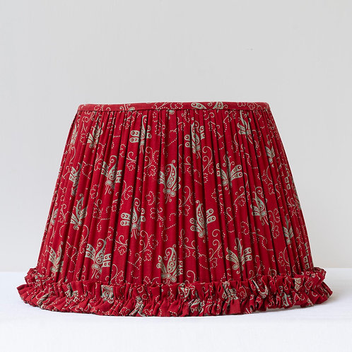 """Single 12 1/2"""" (32cm) base shade with 19th Century Russian cotton"""