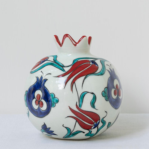 Large hand painted ceramic pomegranate 17