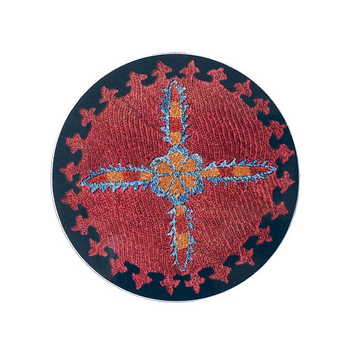 6 Star and sprig coasters in midnight blue (price is for the set)