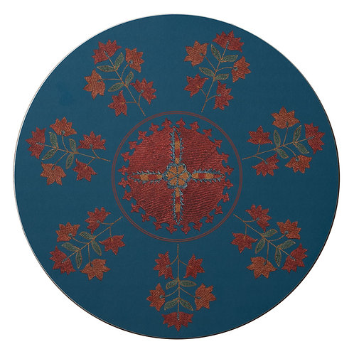 Sprig and star table mat in teal (price per mat)