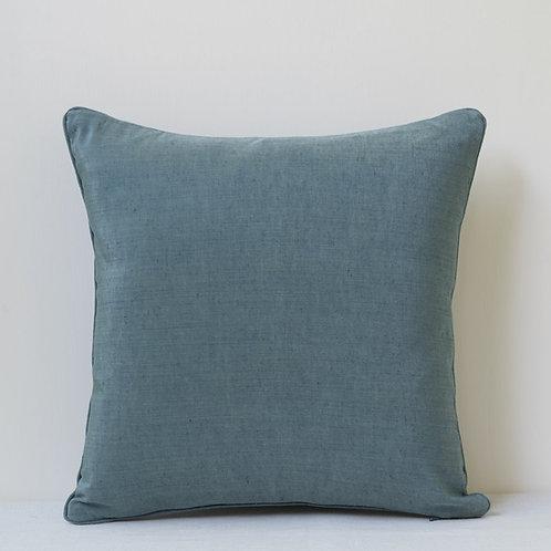 Small square double sided silk linen taffeta cushion