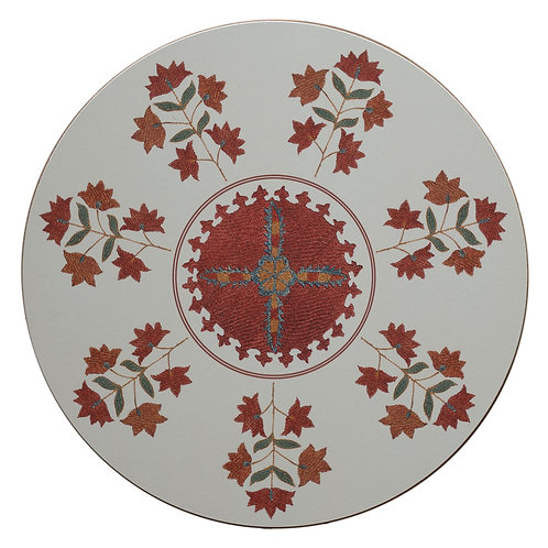 Sprig and star table mat in cream (price per mat)