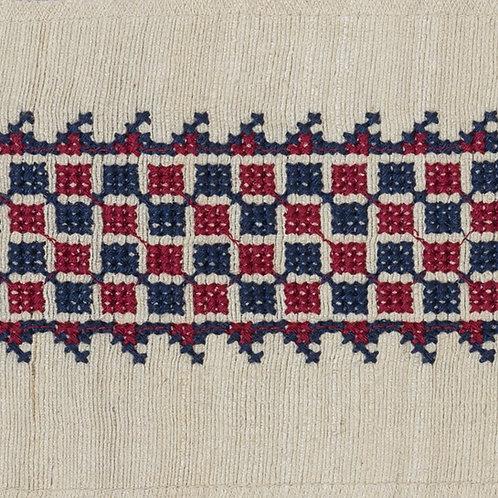 Tarsus braid in red/indigo (price is per metre)