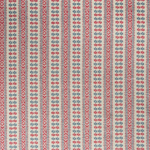 Red/indigo/antique linen Patmos weave (price is per metre)