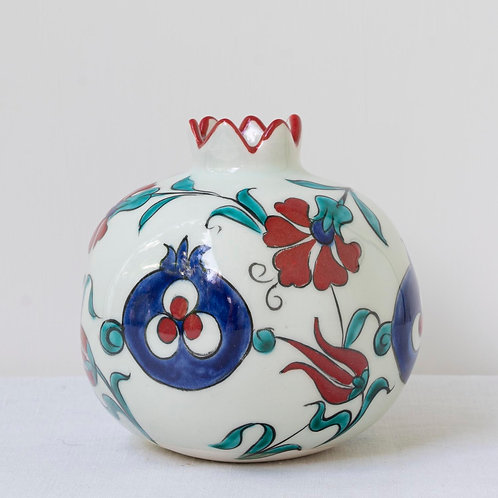 Large hand painted ceramic pomegranate 31