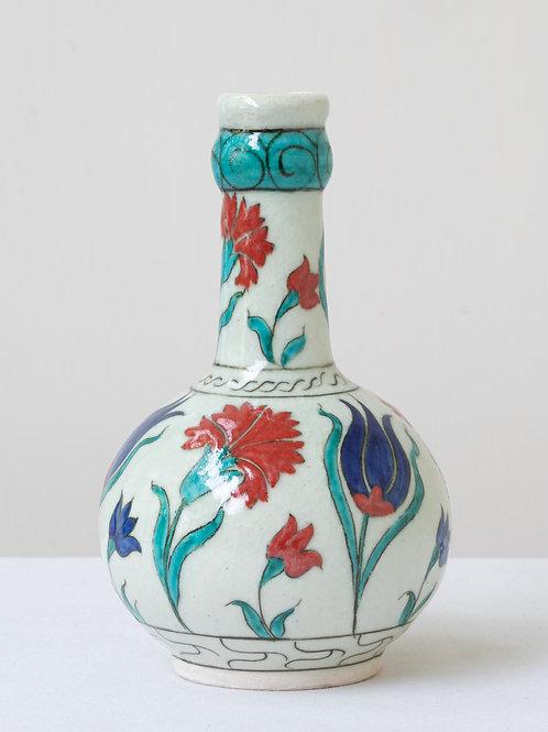 (8) Decorative Iznik inspired ceramic vase