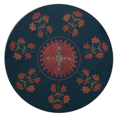 Sprig and star table mat in midnight blue (price per mat)