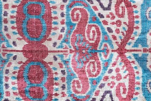 Raspberry blue plum cream silk velvet