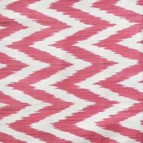 Red/ cream zig zag ikat