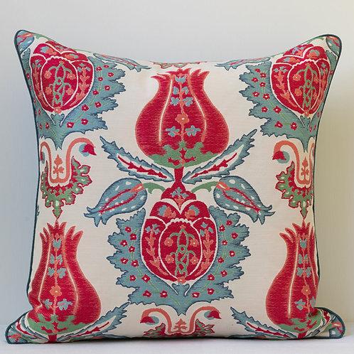 """18"""" / 45cm square Susan Deliss Ottoman motif cushion"""