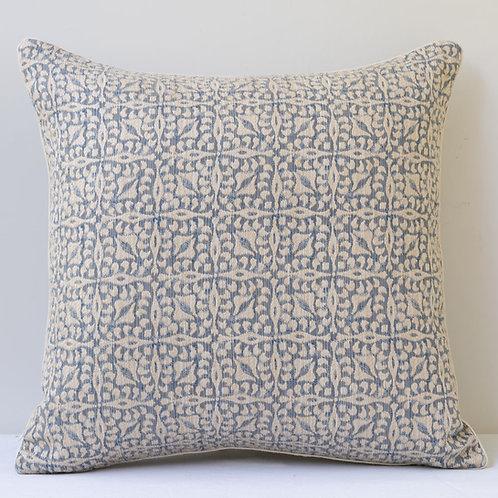 """Constanza"" in ""Bosphorus Blue"" fabric cushion"