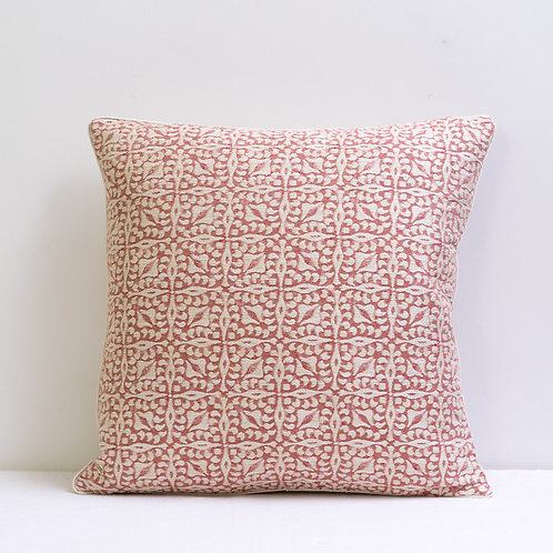 """Constanza"" in ""Antique Pink"" fabric cushion"