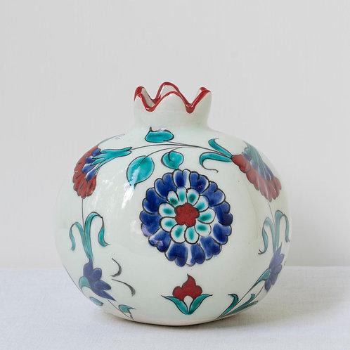 Large hand painted ceramic pomegranate 13