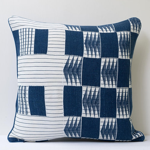 "18""/ 46cm square patchwork hand woven cloth/ antique back cushion"